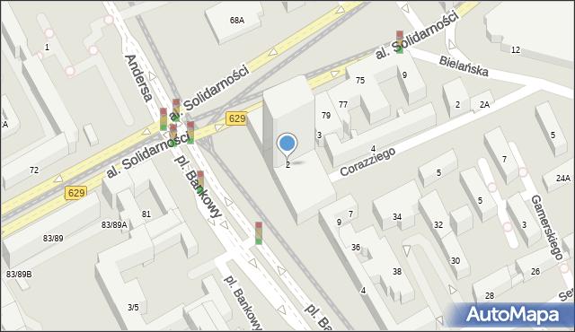 Warszawa, Plac Bankowy, 2, mapa Warszawy