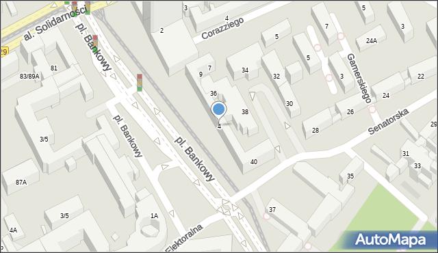 Warszawa, Plac Bankowy, 4, mapa Warszawy