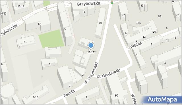 Warszawa, Plac Grzybowski, 12/16, mapa Warszawy