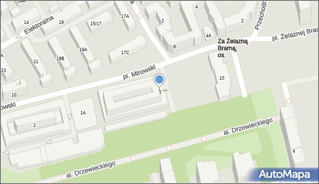 Warszawa, Plac Żelaznej Bramy, 1, mapa Warszawy