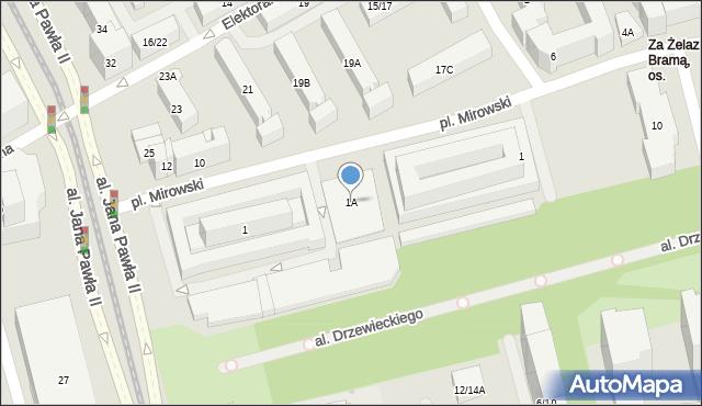 Warszawa, Plac Mirowski, 1A, mapa Warszawy