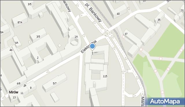 Warszawa, Plac Bankowy, 1, mapa Warszawy