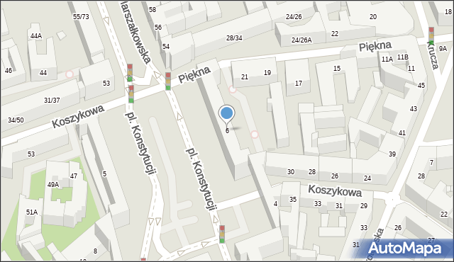 Warszawa, Plac Konstytucji, 28, mapa Warszawy