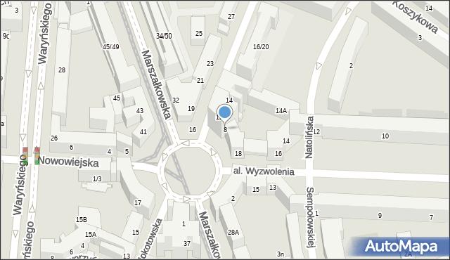 Warszawa, Plac Zbawiciela, 8, mapa Warszawy