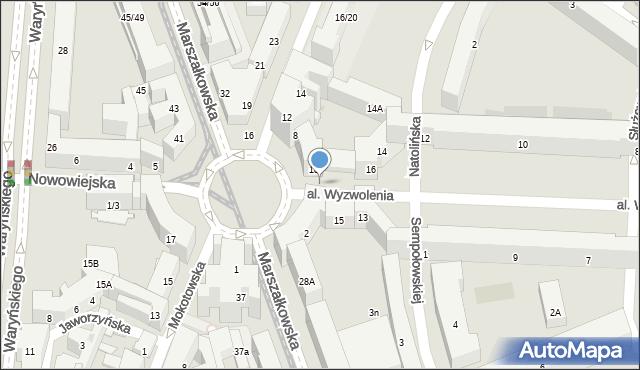 Warszawa, Plac Zbawiciela, 2b, mapa Warszawy