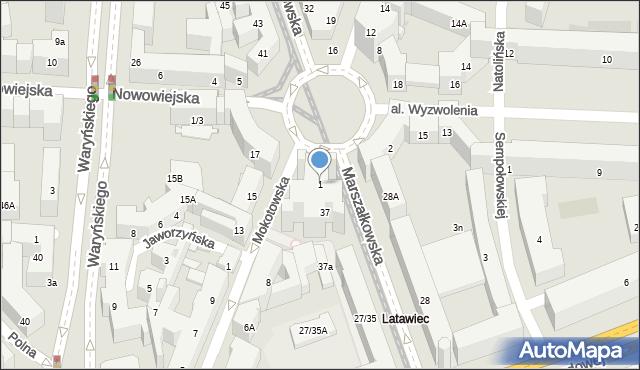 Warszawa, Plac Zbawiciela, 1, mapa Warszawy