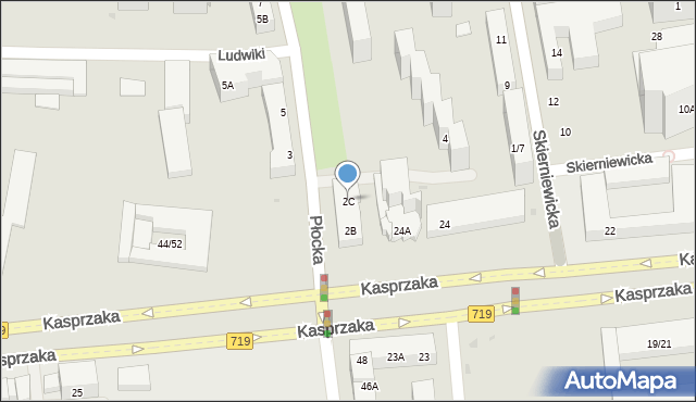 Warszawa, Płocka, 2C, mapa Warszawy