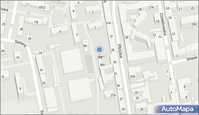 Warszawa, Płocka, 35B, mapa Warszawy
