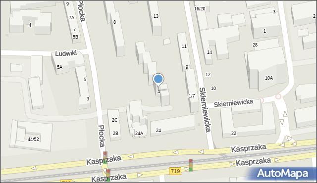 Warszawa, Płocka, 4, mapa Warszawy