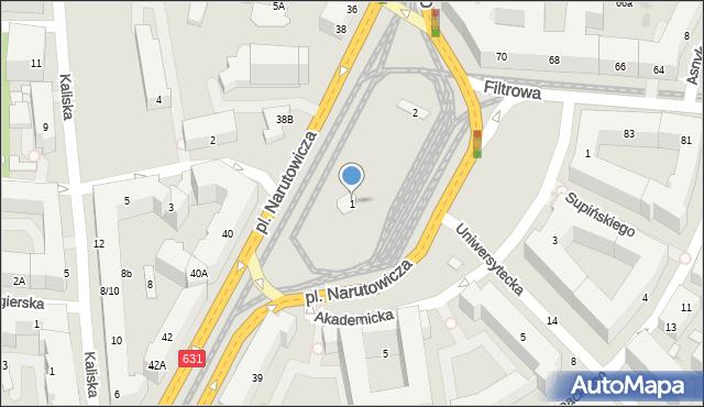 Warszawa, Plac Narutowicza Gabriela, 1, mapa Warszawy