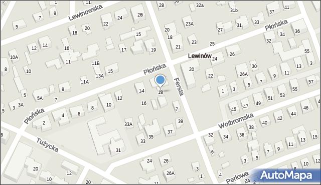 Warszawa, Płońska, 18, mapa Warszawy