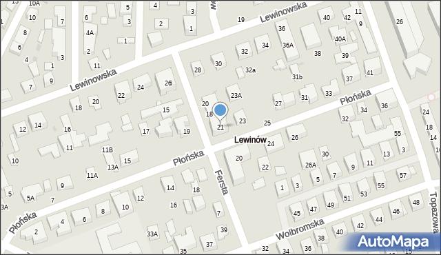 Warszawa, Płońska, 21, mapa Warszawy