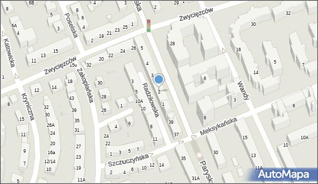 Warszawa, Plac Przymierza, 2, mapa Warszawy