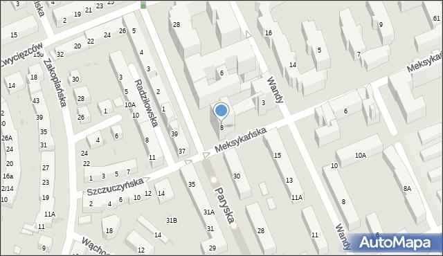 Warszawa, Plac Przymierza, 8, mapa Warszawy
