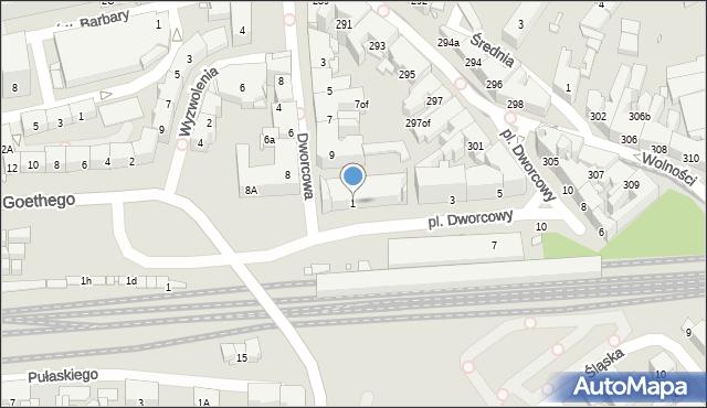 Zabrze, Plac Dworcowy, 1, mapa Zabrza