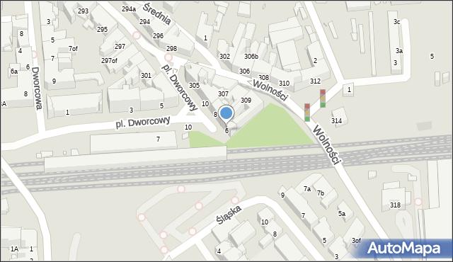 Zabrze, Plac Dworcowy, 6, mapa Zabrza