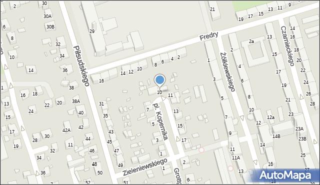 Zabrze, Plac Kopernika Mikołaja, 10, mapa Zabrza