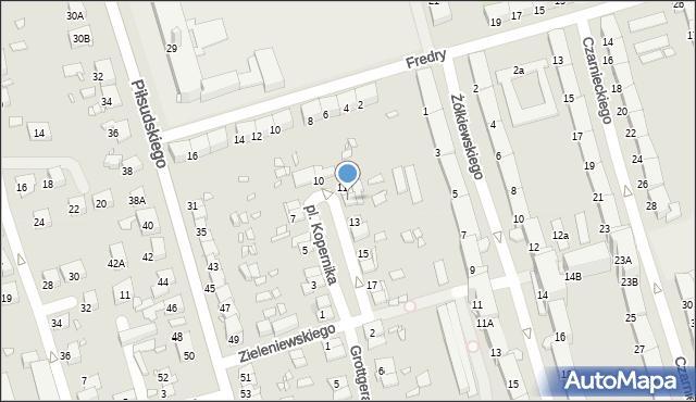 Zabrze, Plac Kopernika Mikołaja, 12, mapa Zabrza