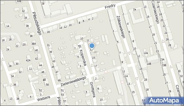 Zabrze, Plac Kopernika Mikołaja, 14, mapa Zabrza