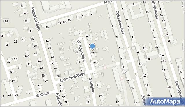 Zabrze, Plac Kopernika Mikołaja, 15, mapa Zabrza