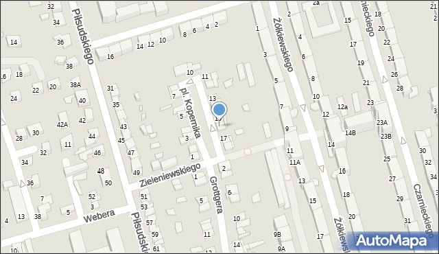 Zabrze, Plac Kopernika Mikołaja, 16, mapa Zabrza