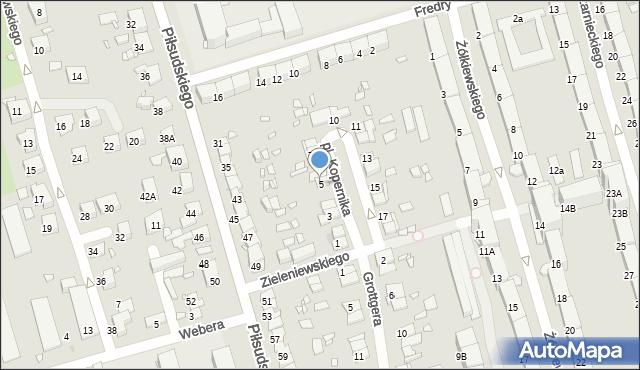 Zabrze, Plac Kopernika Mikołaja, 5, mapa Zabrza