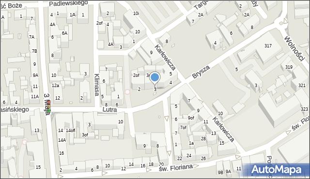 Zabrze, Plac Krakowski, 3, mapa Zabrza