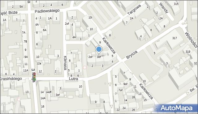 Zabrze, Plac Krakowski, 3of, mapa Zabrza