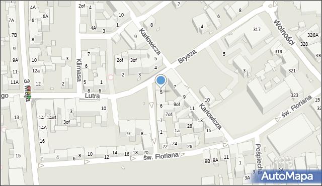 Zabrze, Plac Krakowski, 5, mapa Zabrza