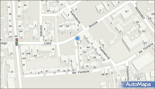 Zabrze, Plac Krakowski, 6p, mapa Zabrza