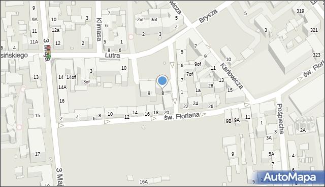 Zabrze, Plac Krakowski, 8, mapa Zabrza