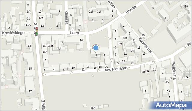 Zabrze, Plac Krakowski, 9, mapa Zabrza