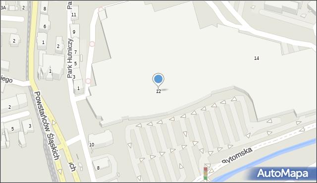 Zabrze, Plac Teatralny, 12, mapa Zabrza