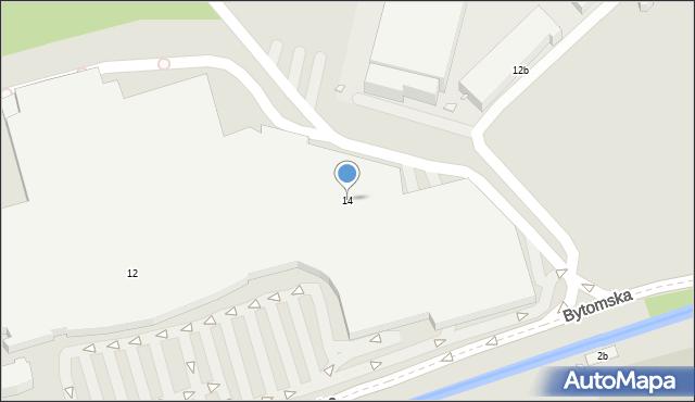 Zabrze, Plac Teatralny, 14, mapa Zabrza