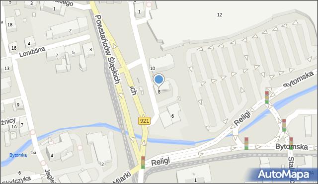 Zabrze, Plac Teatralny, 8, mapa Zabrza