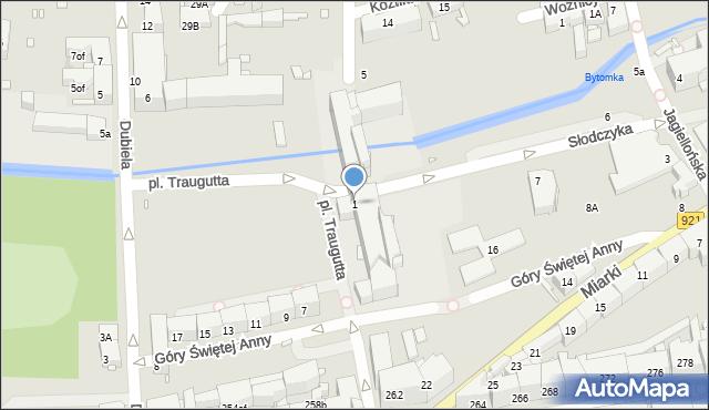 Zabrze, Plac Traugutta Romualda, gen., 1, mapa Zabrza