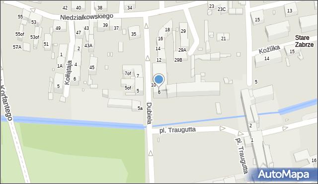 Zabrze, Plac Traugutta Romualda, gen., 6, mapa Zabrza