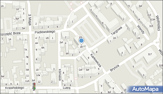 Zabrze, Plac Warszawski, 10, mapa Zabrza