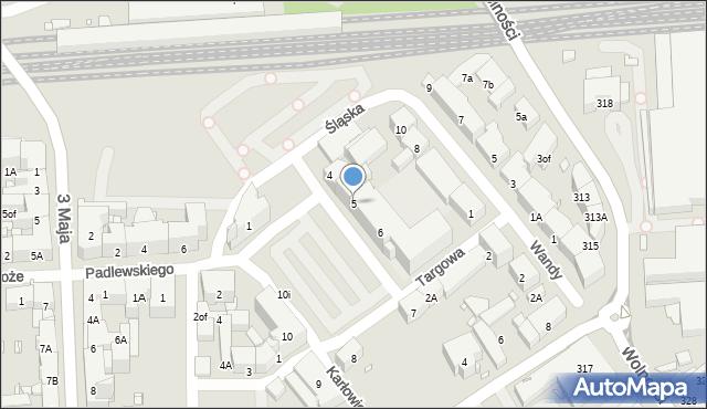 Zabrze, Plac Warszawski, 5, mapa Zabrza
