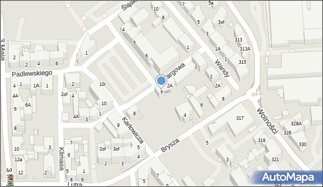 Zabrze, Plac Warszawski, 7, mapa Zabrza