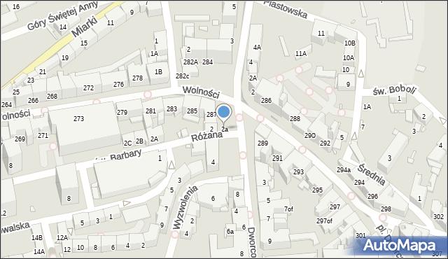Zabrze, Plac Wolności, 2a, mapa Zabrza