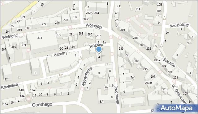Zabrze, Plac Wolności, 4, mapa Zabrza
