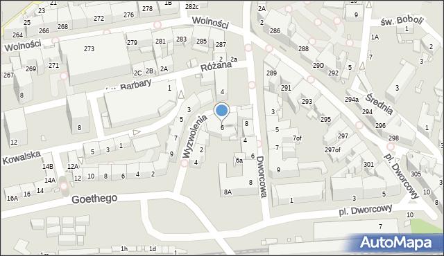 Zabrze, Plac Wolności, 6, mapa Zabrza