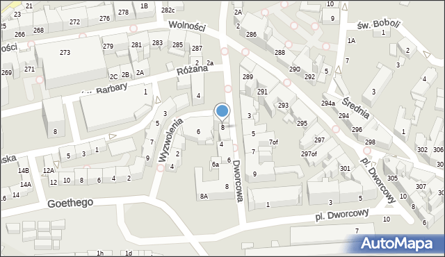 Zabrze, Plac Wolności, 8, mapa Zabrza