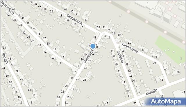 Zabrze, Plebiscytowa, 41, mapa Zabrza