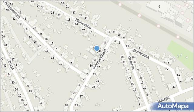 Zabrze, Plebiscytowa, 42, mapa Zabrza