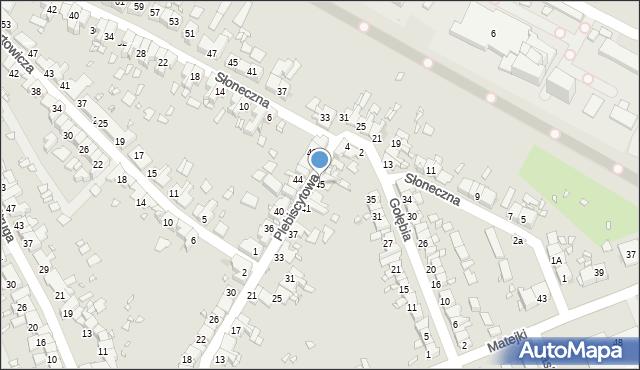 Zabrze, Plebiscytowa, 45, mapa Zabrza