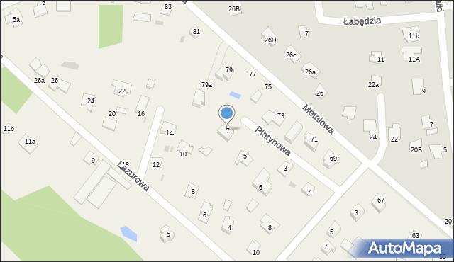 Żółtańce-Kolonia, Platynowa, 7, mapa Żółtańce-Kolonia
