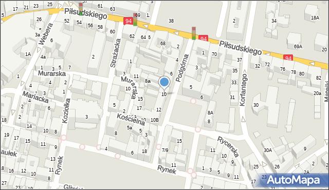 Bytom, Podgórna, 10, mapa Bytomia