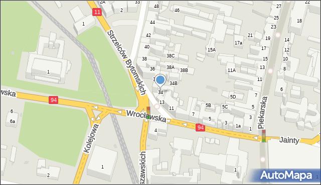 Bytom, Powstańców Warszawskich, 34, mapa Bytomia